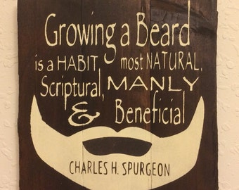 beards man cave or menu0027s office decor gift for pastor charles spurgeon quote