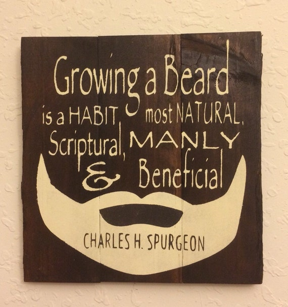 Wall Decor Mens Office : Beards man cave or men s office decor gift for pastor