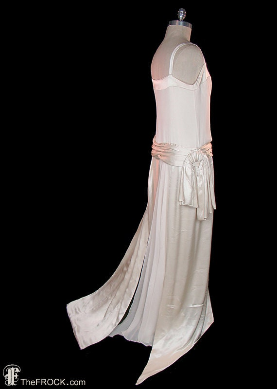 Vintage Wedding Dresses Art Deco : Wedding dress s vintage flapper era art deco by thefrockdotcom