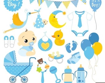 Boy Baby Shower Digital Clipart