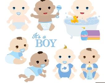 Baby Boys Digital Clipart