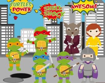 Ninja Turtles Digital Clipart