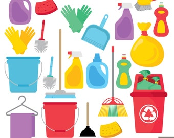 House Cleaning Digital Clipart