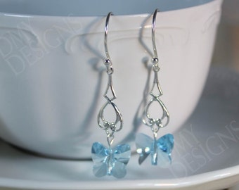 Blue Butterflies Earrings