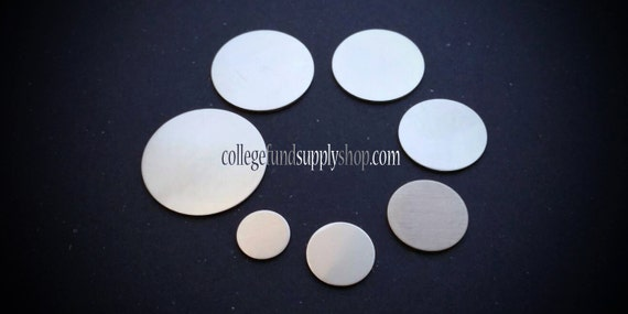 """7/8"""" pewter stamping blank 18 g. sold in SETS of 3,   7/8"""" round disc, jewelry supply, disc for etching, metal supply shop, hand stamping"""