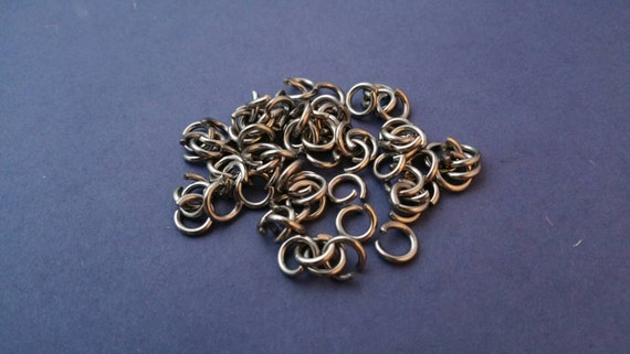 8mm JUMP RINGS,8D-1.5 mm-14 gauge wire, THICK Stainless Steel Jumps, 1.4mm wire, Super Strong, Jewelry Findings, Jewelry Supplies