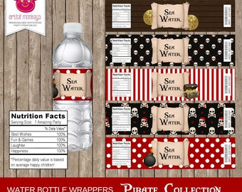 Printable Pirate Water Bottle Labels