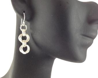 Chain Maile Rosette earrings