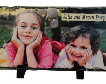 Photo Slate, Personalized plaque,Desktop Photo Plaques, Personalized Gifts, Sublimated Slates, Stone Photo print