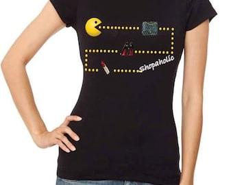 Shopaholic Pacman Maze Women's Tshirt