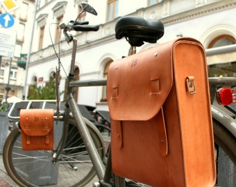 Big Leather Bicycle Pannier