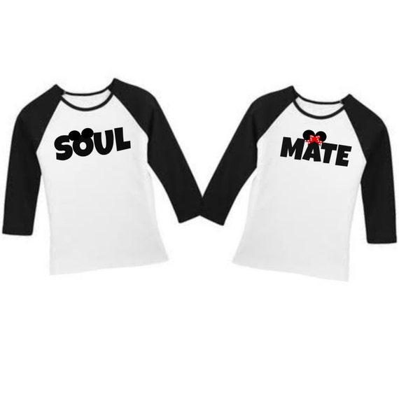 Soul Mate Disney couple t-shirts  unisex t-shirts  couples t-shirts    Disney Soul Mate Shirts