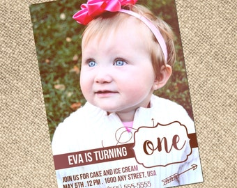 Custom Birthday Announcements and Invitations — Hi Res Digital File for 5x7 Photo Cards