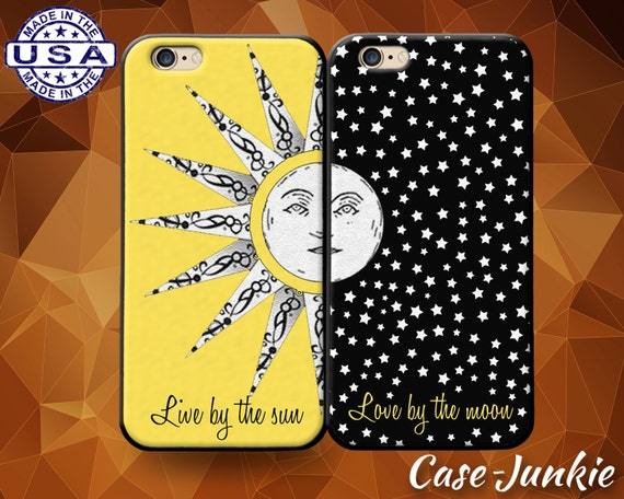 Items similar to Sun And Moon Pair Case Love Quotes Stars ...