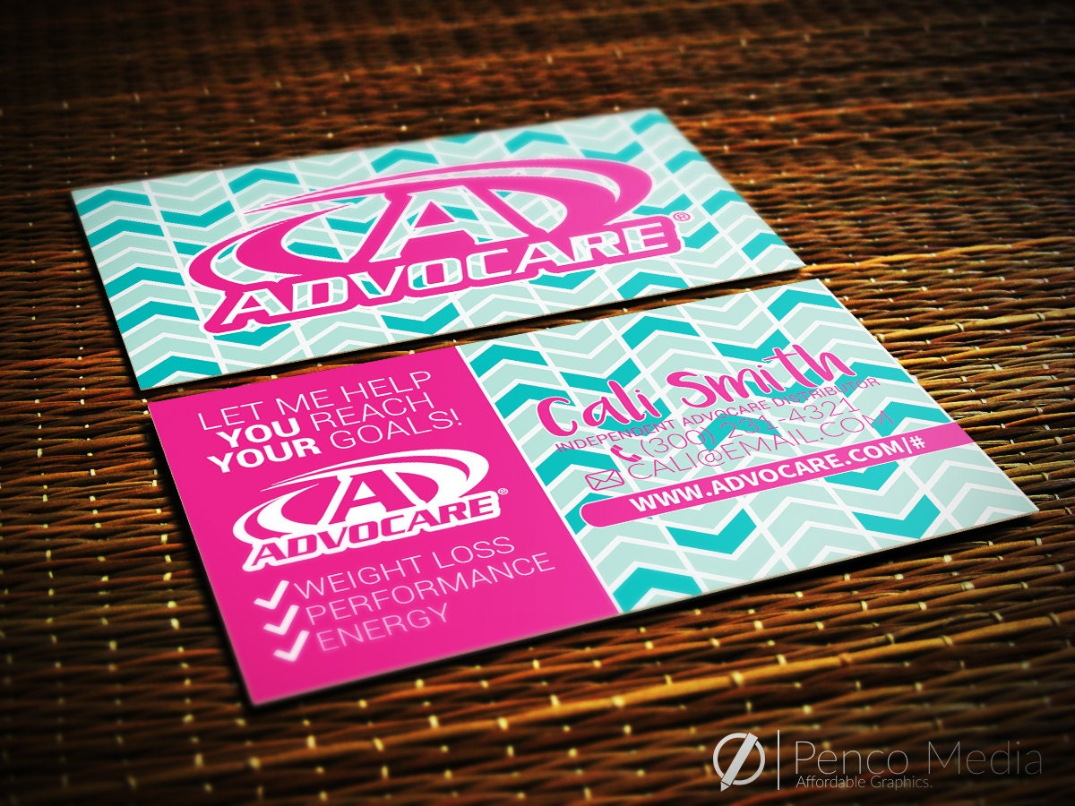 Custom Personalized AdvoCare Business Card Design by