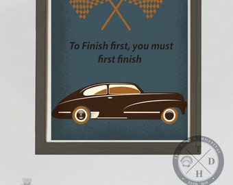 Vintage Cars – Car Quotes – Transportation– Vintage Baby Boy Nursery– Boy's Theme– Retro Toys– Old Car Tag –Street Signs–Young Teen Boys Art