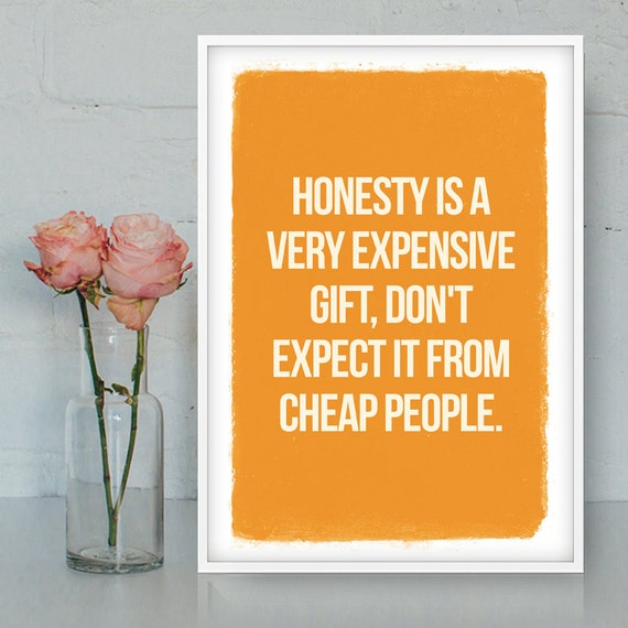 Honesty Quotes Images Download: Honesty Printable Quote Home Decor Wall Art Printable