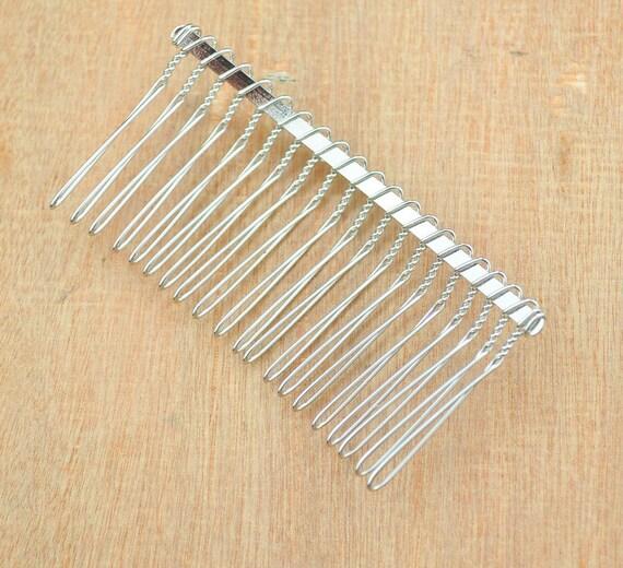 20 teeth silver hair combs 50pcs silver plated hair combs for Metal hair combs for crafts