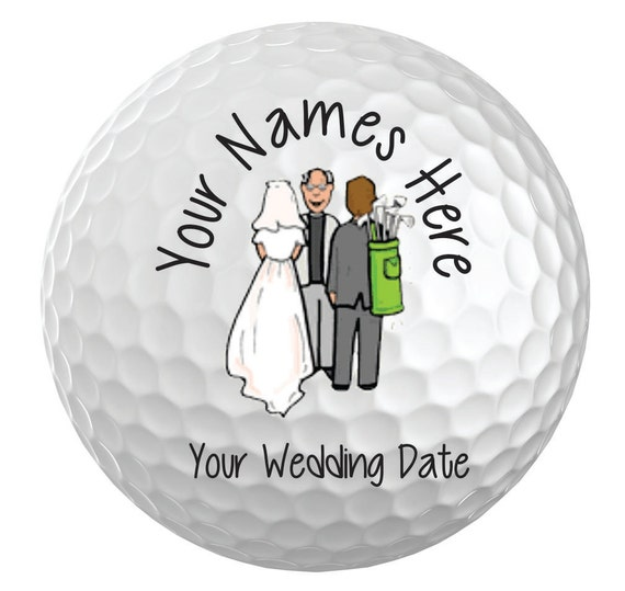 50 personalized wedding favor custom golf balls custom With wedding favor golf balls