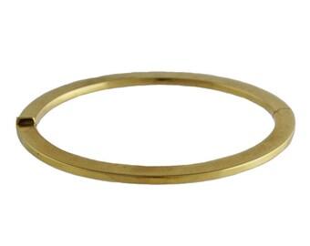 Italian Slender 18K Gold Bangle Bracelet