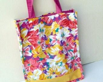 Sling bag large painted flowers