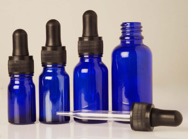 vider la bouteille en verre bleu cobalt flacons. Black Bedroom Furniture Sets. Home Design Ideas