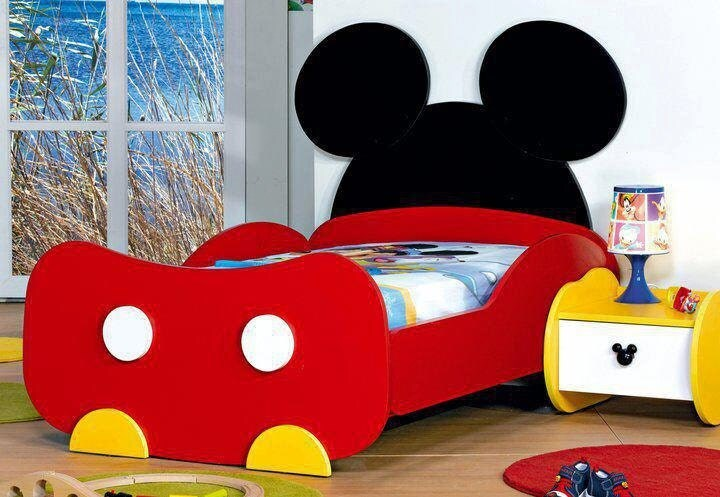 Boy Girl Toddler Or Twin Mickey Mouse Bed By Houseandbeyond