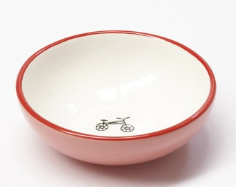 Ceramic Small Bowl - Bicycle