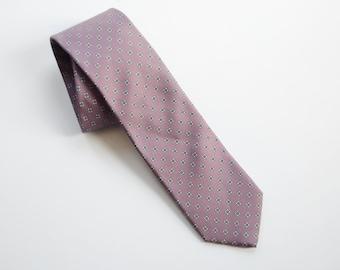 Vintage Purple Silk Floral Tie
