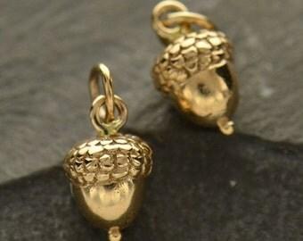 Bronze Acorn Charm