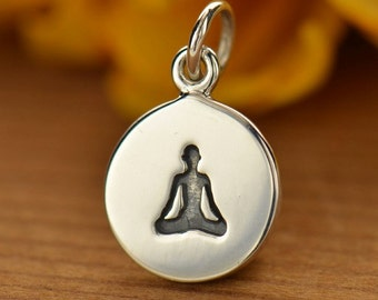 Sterling Silver Sitting Yoga Pose Charm