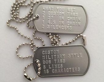 Custom Military Style Dog Tags