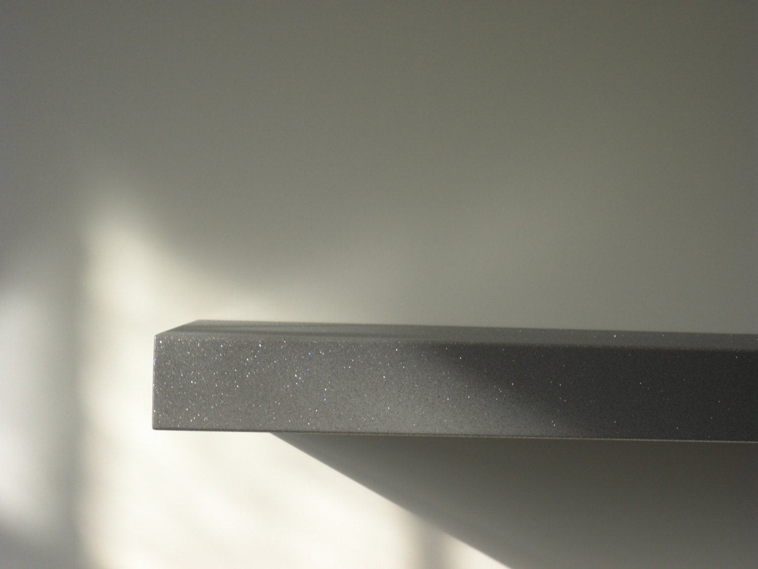 floating shelf with brushed stainless steel by nossovdesign. Black Bedroom Furniture Sets. Home Design Ideas