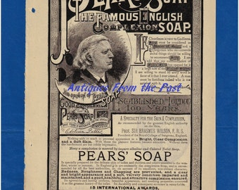 1885 Magazine Ad - Pear's Soap The Famous English Complexion Soap Established in London 100 Years - Sypher - Caligraph Writing Machines #2
