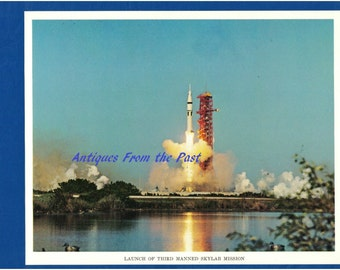 1974 NASA Original Press Release Photo jscl-122 Launch of Third Manned Skylab Mission