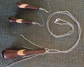 Teardrop Wooden Jewelry Set