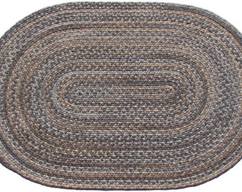 Granite Wool Braided Rug