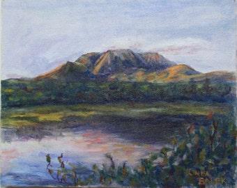 original acrylic painting Mt Katahdin Baxter State Park Maine