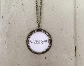Overcomer Pendant Necklace