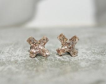 Imitation Druzy Kiss Stud Earrings