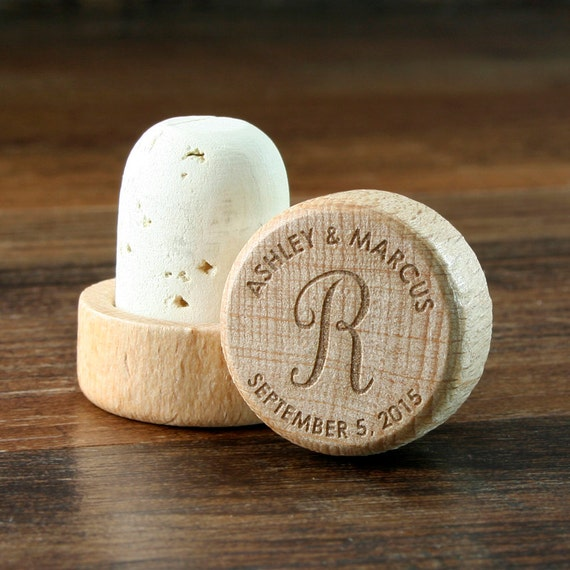 Best Wine For Wedding Gift: Wine Stopper Bulk Personalized Wood Top Cork By