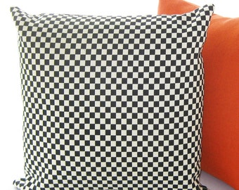 Designer Pillow Cover - Maharam Checker by Alexander Girard  - 17x17 - Made to Order by UPSTYLE