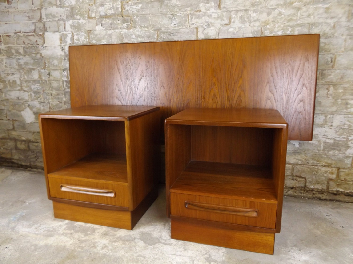 G plan teak matching pair of fresco bedside tables for G plan bedroom furniture