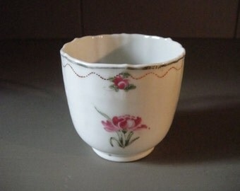Export Porcelain Coffee Cup With Scalloped Rim, Chinese For The American Market c. 1790