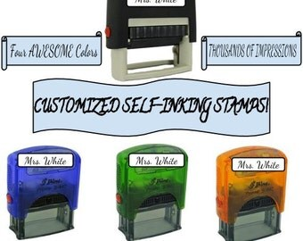 SALE! 60% Custom Name Stamp Signature Rubber Stamp Self Inking Great Teacher Stamp