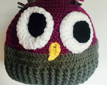 Owl hat (2 colours to choose from)