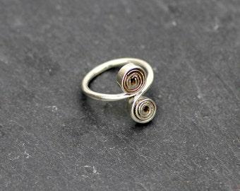 ZUKARI - silver ring - sugar snail - silver ring