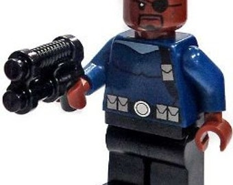NICK FURY Agent of Shield Custom Version Minifigure 100% LEGO Compatible! Marvel Comics Character