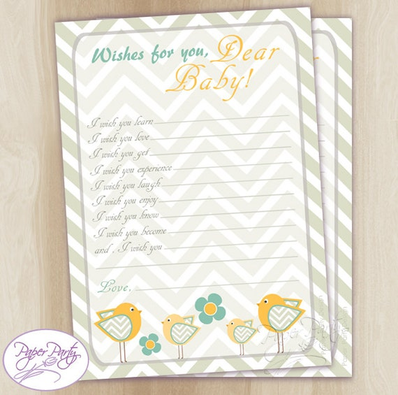 well wishes for baby yellow gray birds baby shower wishes for baby