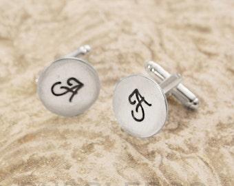 Personalised Monogrammed Cufflinks - Initials personalised cuff links